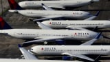 Delta Air Lines planes are grounded during coronavirus.